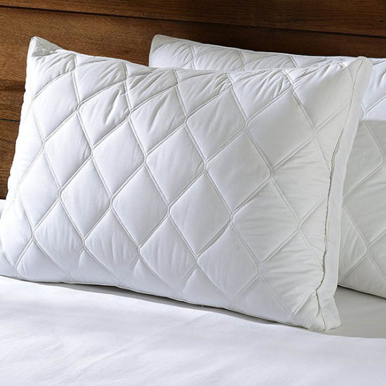 Quilted-Feather-and-Down-Gusset-Bed-Pillow-Standard-Queen-Size-White